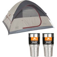 Deals on Coleman 4-Person Traditional Camping Tent w/2 30oz Tumblers