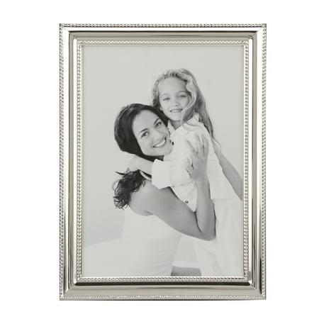 Stonebriar Collectoin Shiny Silver Metal 5x7 Photo Frame ()