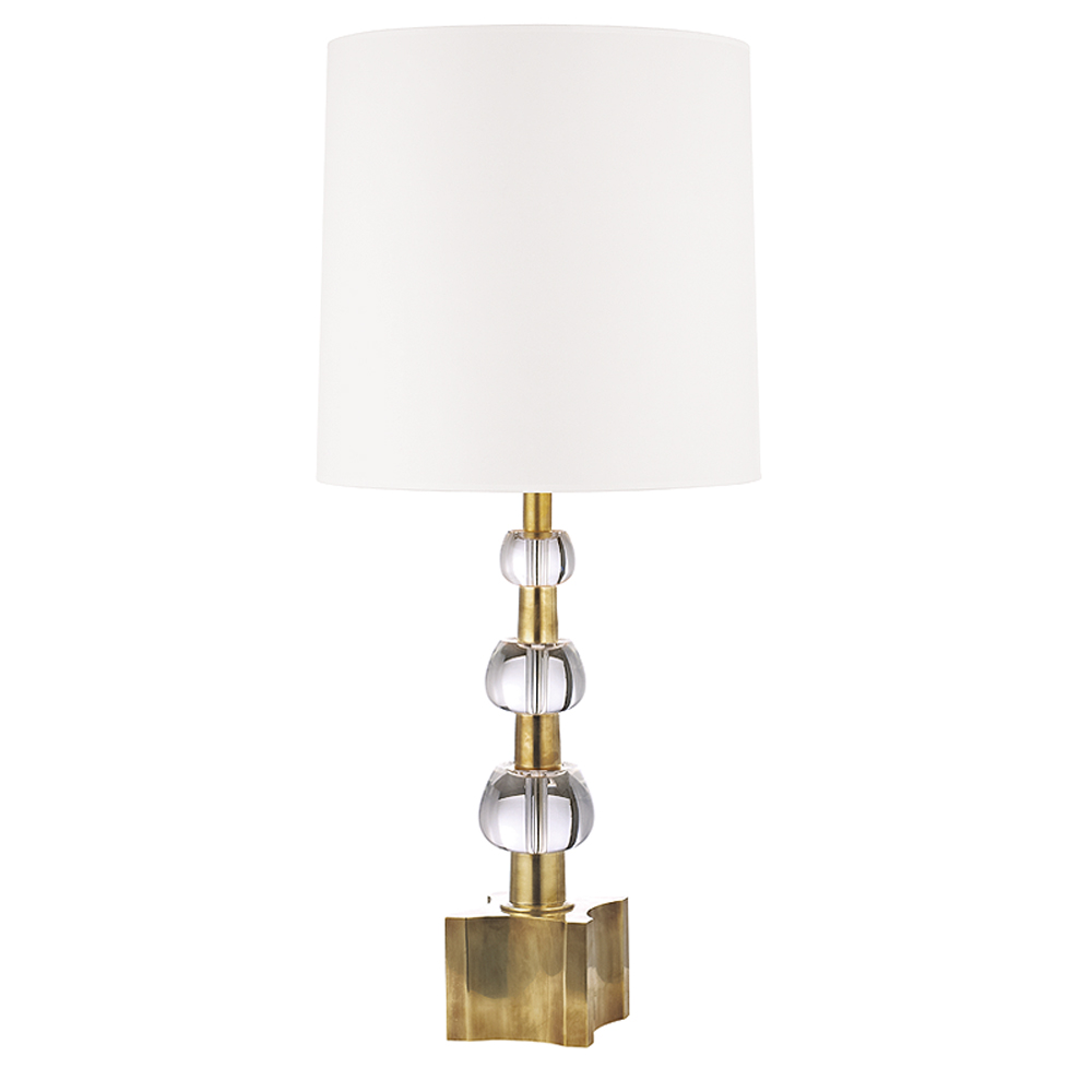 Hudson Valley L125-AGB-WS 2 LIGHT TABLE LAMP WITH CRYS