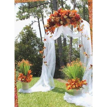 Wedding Arch White Steel For Special Events Occasions, 90-Inch x 55-Inch - Decorative Arch