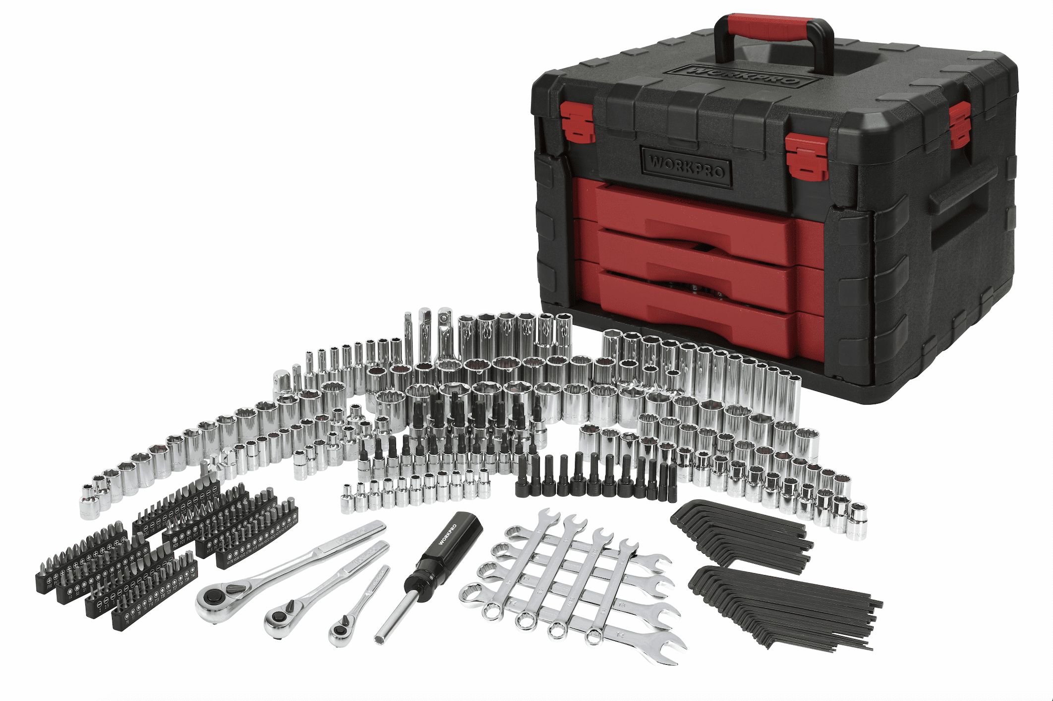 320-Piece Mechanic's Tool Set with Storage Case Sockets Repair Tool Ratchets
