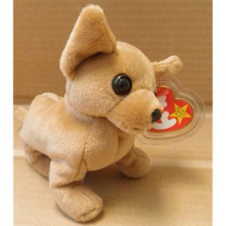 Ty Beanie Babies Tiny The Chihuahua Dog Plush Toy Stuffed Animal