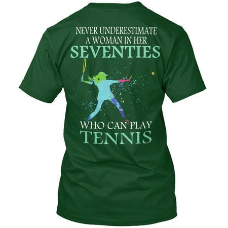 Never Tennis Seventies Woman Shirt Hanes Tagless Tee - Seventies Clothes