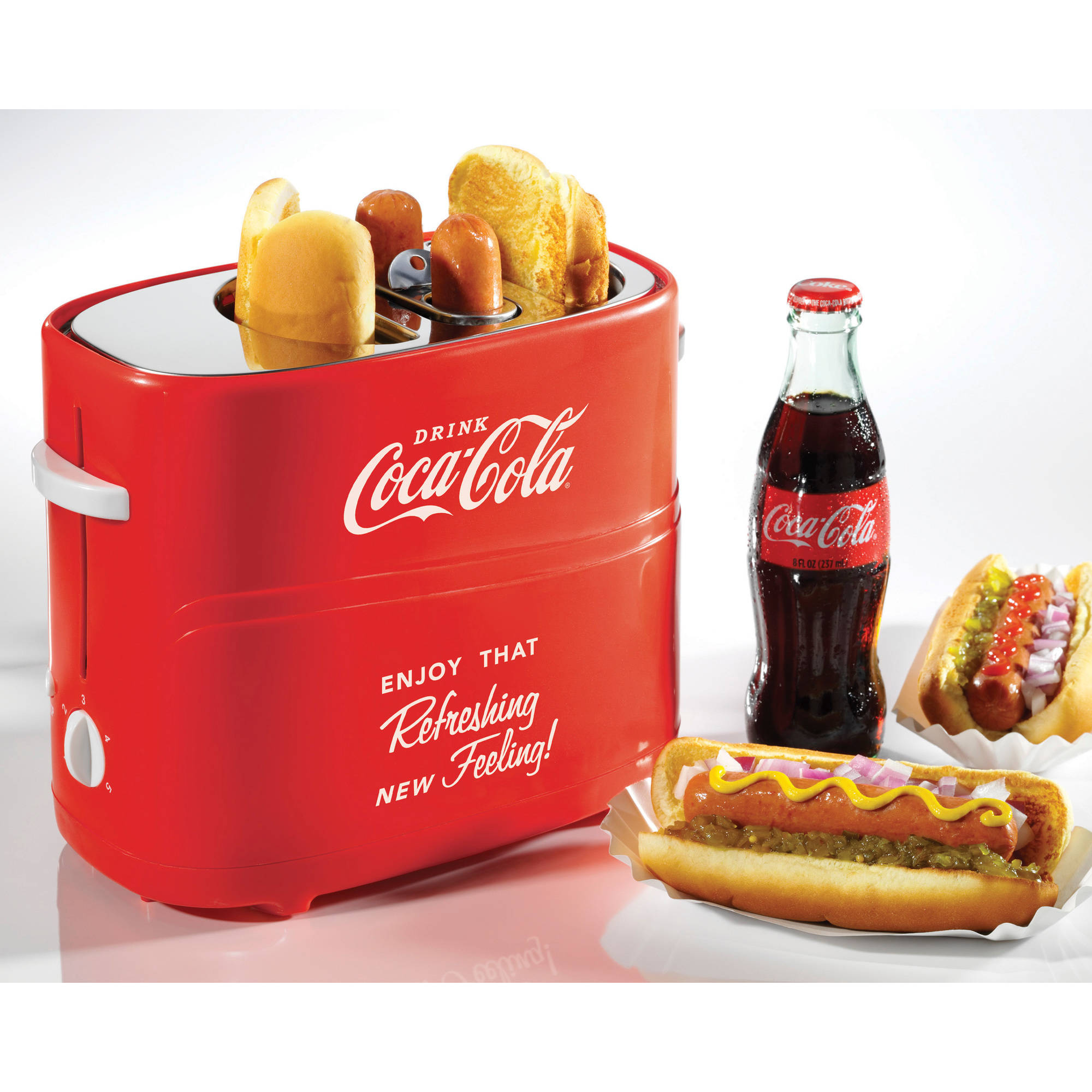 Nostalgia HDT600COKE Coca-Cola Pop-Up Hot Dog Toaster