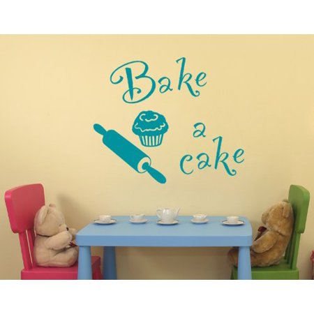 Bake a Cake Wall Decal kitchen Wall Sticker Vinyl Wall Art Home Decor