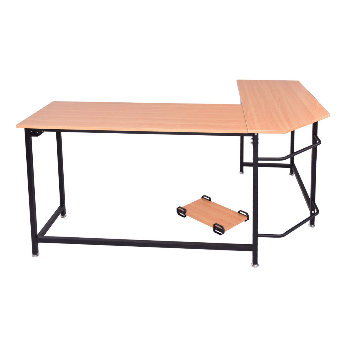 Gymax Home Office L Shaped Corner Computer Desk Pc Latop Study Table Workstation Com