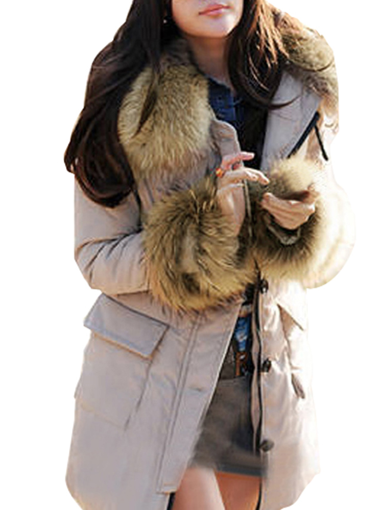 Women Fashion Thicken Jackets Pockets Long Sleeve Zipper Hoodies