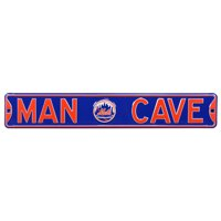 """New York Mets 6"""" x 36"""" Man Cave Steel Street Sign - Blue - No Size"""