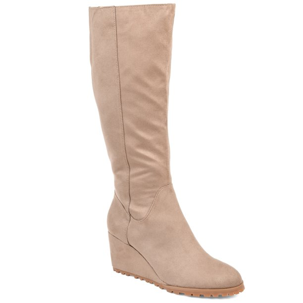 Brinley Co. Womens Comfort Lug Sole Wedge Boot