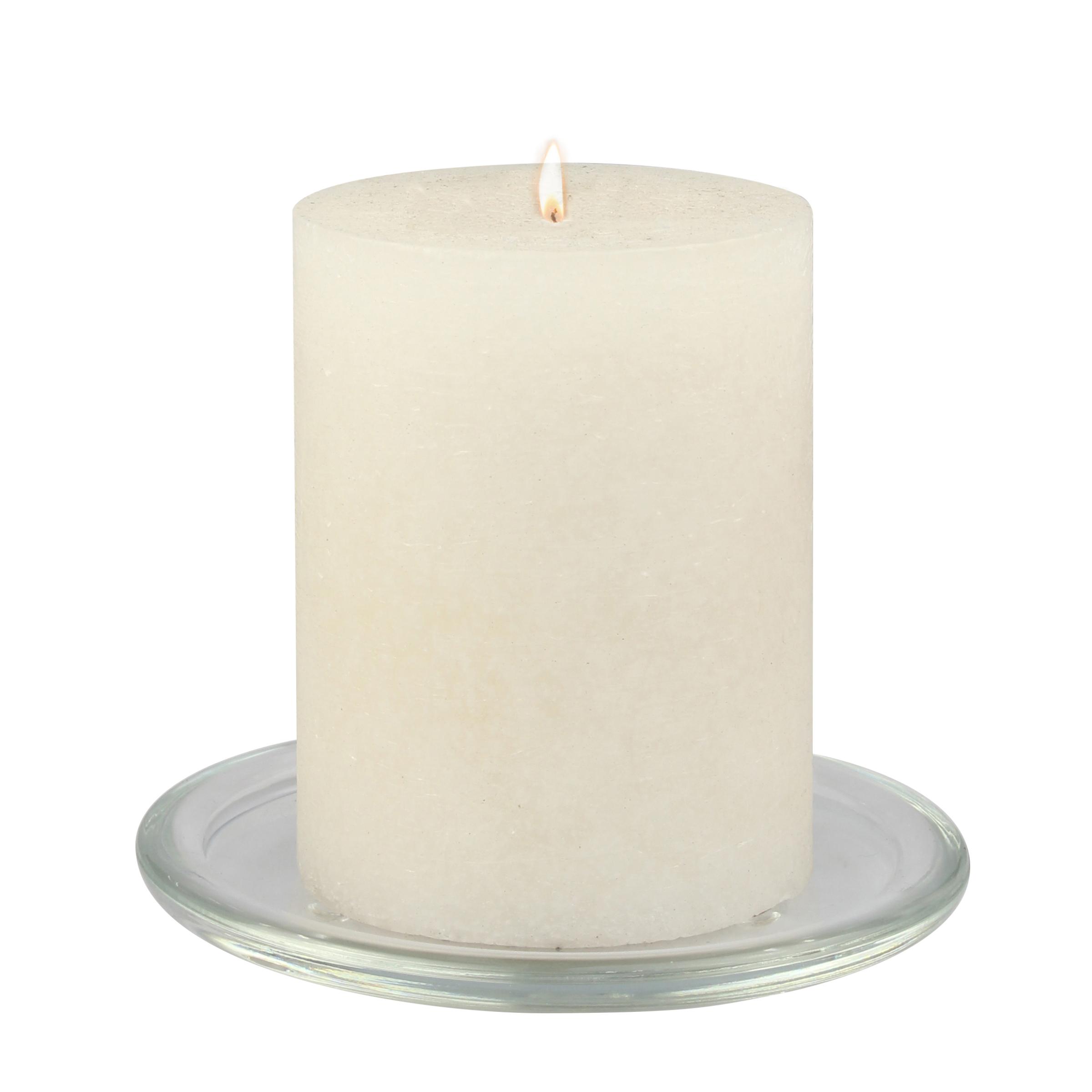 Mainstays Round Glass Plate with Clear Feet, Votive Candle Holder