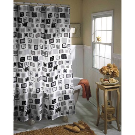 Geo Sparkle Shower Curtain, Black - Walmart.com