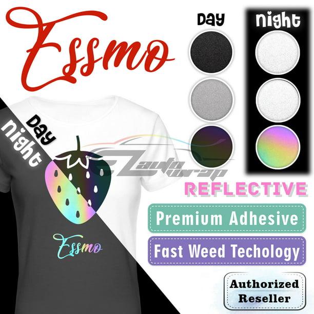 ESSMO\u2122 10 Silver Chrome Heat Transfer Vinyl HTV T-Shirt Iron On Heat Press DS02