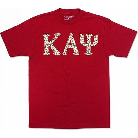 Big Boy Kappa Alpha Psi Graphic Print Divine 9 Mens Tee [Crimson Red -