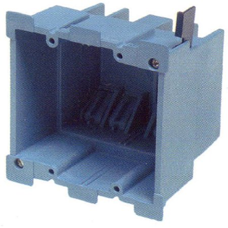 Gang Old Work Box (Carlon BH234R Outlet Box, Old Work, 2 Gang, 3-7/8-Inch Length by 2-3/8-Inch Width by 3-5/8-Inch Depth, Blue, Largest wire fill capacity in.., By Thomas Betts)