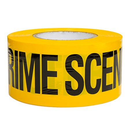 Crime Scene Do Not Cross Barricade Tape 3 X 1000 • Bright Yellow with a bold Black Print for High Visibility • 3 in. wide for Maximum Readability • Tear Resistant Design