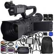 JVC GY:HM250 UHD 4K Streaming Camcorder with Built:in Lower:Thirds Graphics W/ Accessory Bundle