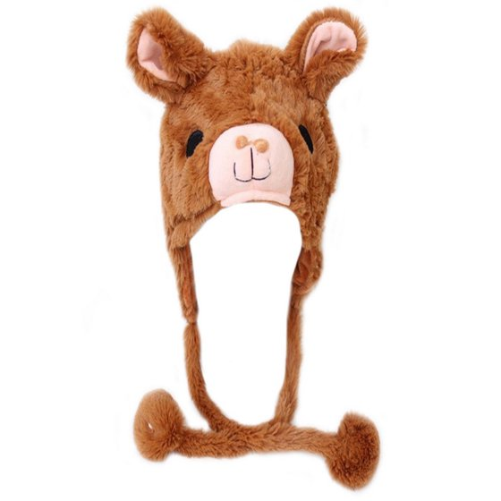 Toptie Toptie Girls Animal Design Winter Thermal Hat With Ears