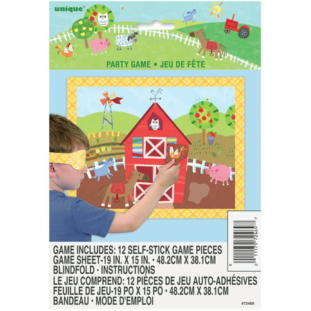 Barnyard Farm Party Game for 12 Players - Farm Animals Party Supplies