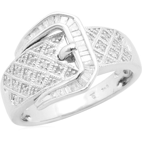 1/5 Carat T.W. Diamond Buckle Band in Sterling Silver