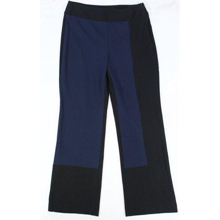 Women's Pants Black Dress Colorblocked Crepe Stretch 6 Black Stretch Crepe