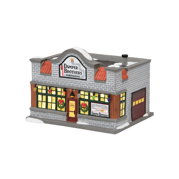 Department 56 A Christmas Story Furnace Repair Shop Damper Brothers