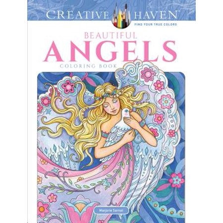 Creative Haven Beautiful Angels Coloring Book - Angel Coloring Page