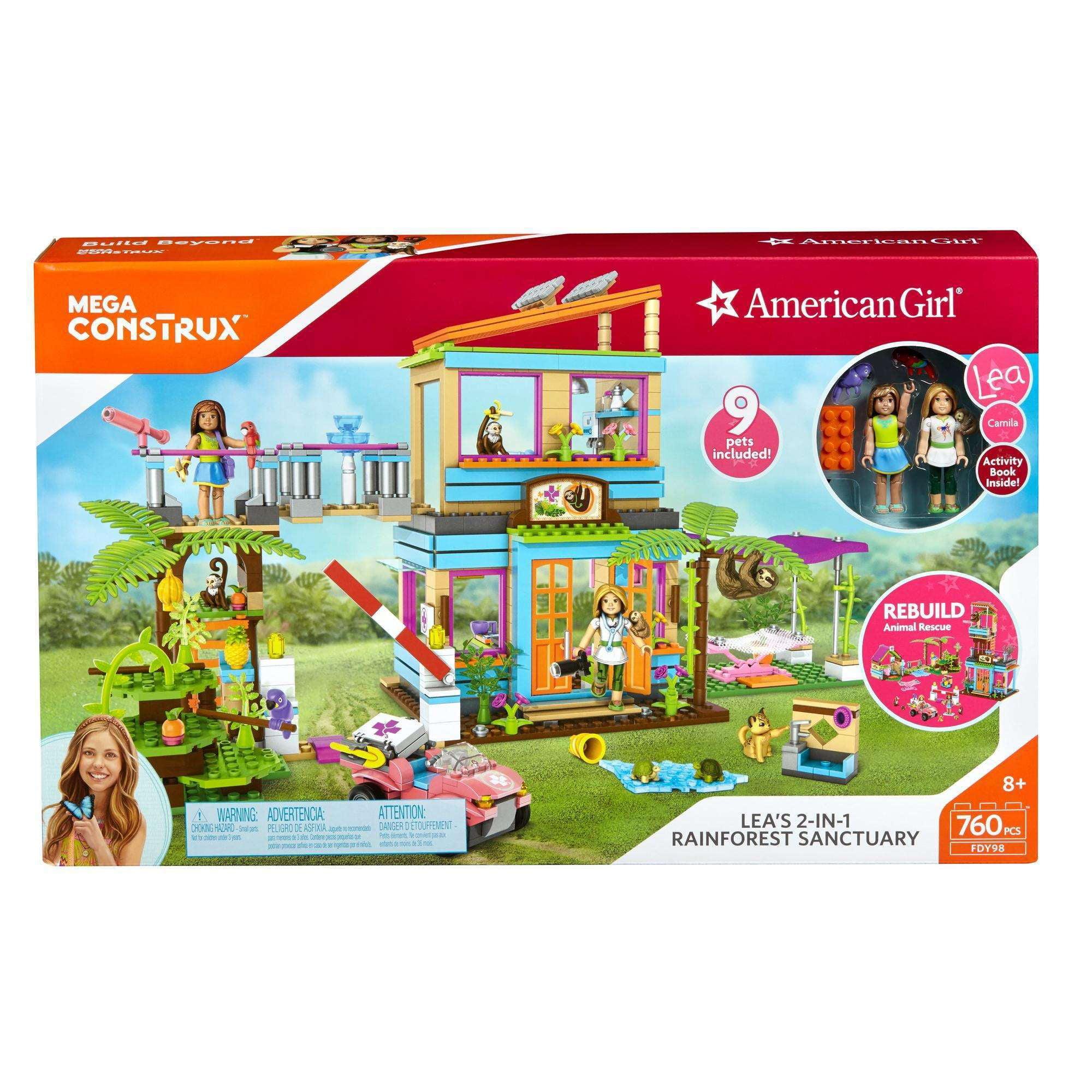 Mega Construx American Girl Lea's 2-In-1 Rainforest Sanctuary Construction Set by Mattel