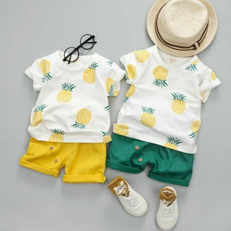 Cute Infant Toddler Baby Boy Summer T-shirt+Shorts Outfits Pineapple Clothes New - Cute Movie Outfit Ideas