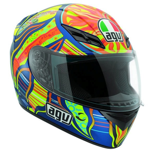 AGV K3 Five Continents Helmet Blue/Yellow