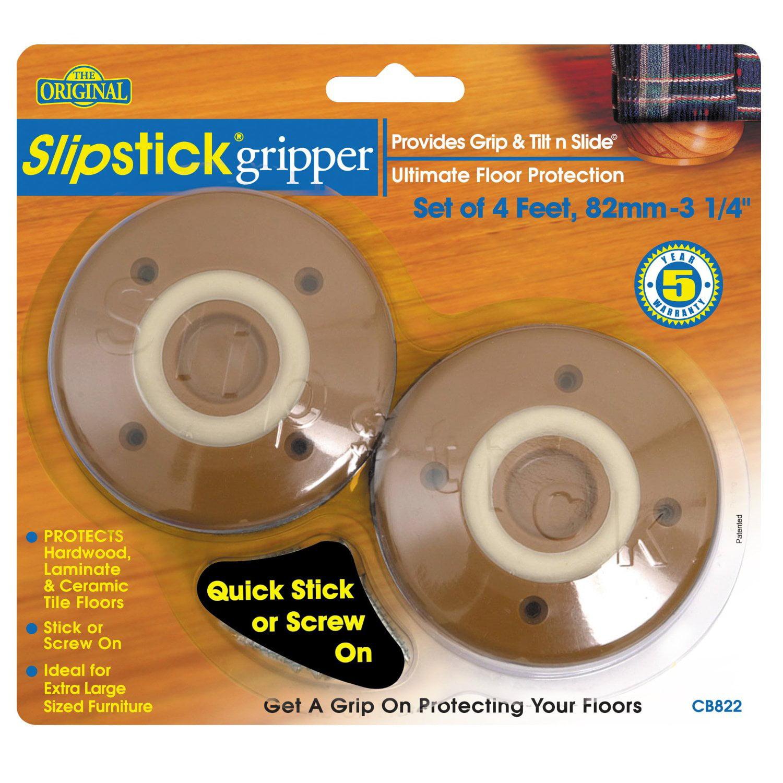 """Slipstick CB822 3-1/4"""" Gripper, Set of 4 Feet"""