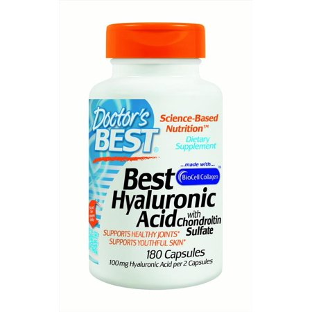 Doctor's Best Meilleur acide hyaluronique avec de chondroïtine, 180 Ct