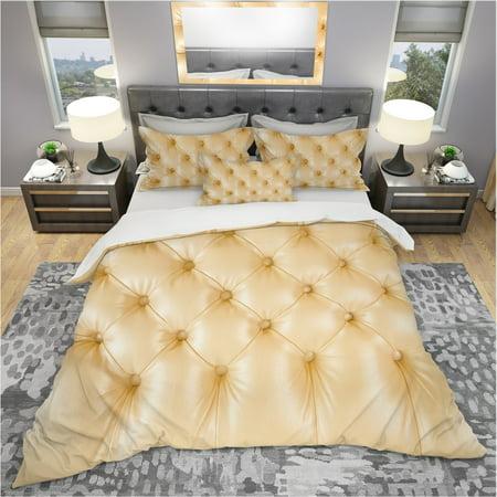 DESIGN ART Designart 'Luxury Classic sofa Beige Leather' Modern & Contemporary Bedding Set - Duvet Cover & Shams