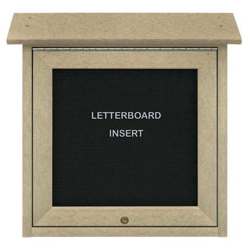 "UNITED VISUAL PRODUCTS UVSM1818LB-SAND Enclosed Bulletin Board, Letter, 18""x18"""