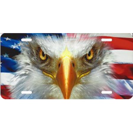 Eagle With American Flag License Plate - image 1 de 2