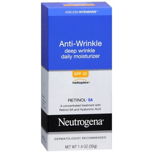 Neutrogena Ageless Intensives Anti-Wrinkle Deep Wrinkle Daily Moisturizer SPF 20 1.40 oz (Pack of 4)