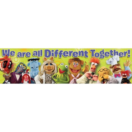MUPPETS ALL DIFFERENT CLASSROOM BANNER - Muppets Accessories
