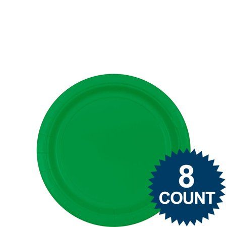 Green 7? Paper Cake Plates (8 Pack) - Party Supplies