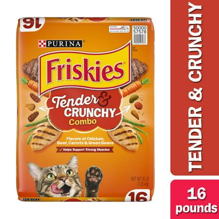 Friskies Dry Cat Food, Tender & Crunchy Combo, 16 lb. Bag