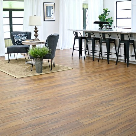 Select Surfaces Caramel Laminate Flooring, 6 Plank Box (12.50 Square
