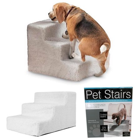 Pet Stairs Portable 3 Step Ladder Indoor Cat Dog Ramp