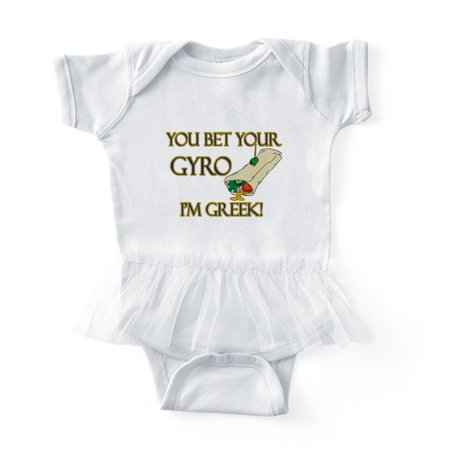 Cafepress Bet Your Gyro Im Greek Cute Infant Baby Tutu Bodysuit
