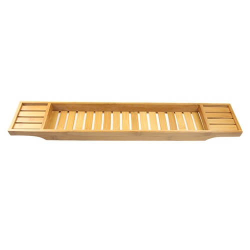 LNC Home Bamboo Free Standing Bath Caddy by