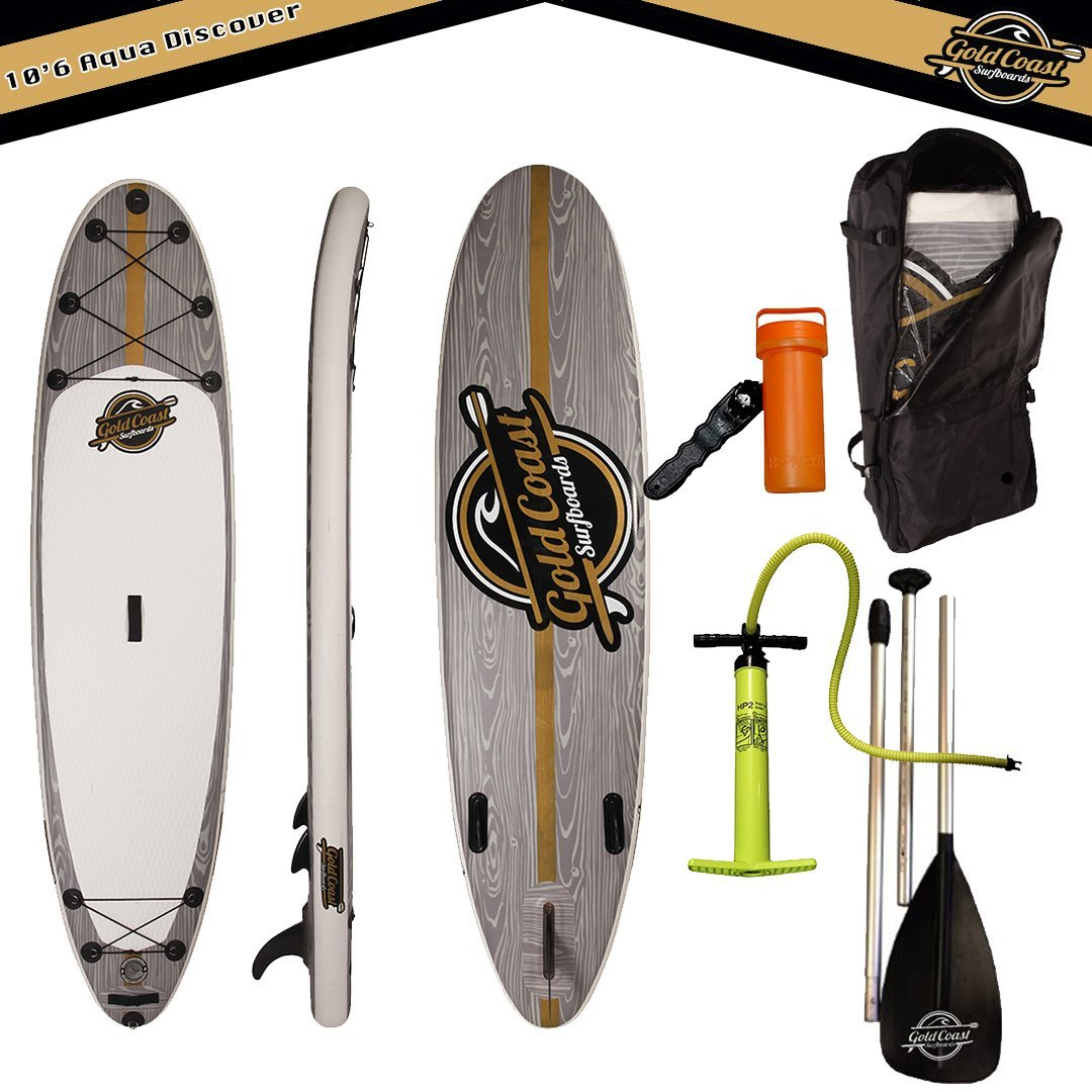 Gold Coast Surfboards 106� Aqua Discover ISUP Package Inflatable Stand Up Paddle Board and Complete ISUP Starter Package... by Gold Coast Surfboards