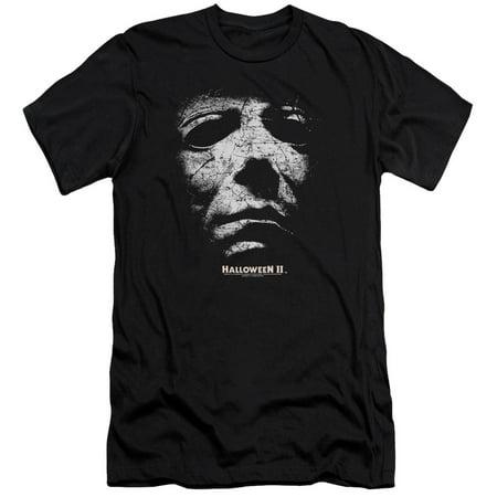 Halloween II Horror Slasher Movie Series Mask Adult Slim T-Shirt Tee