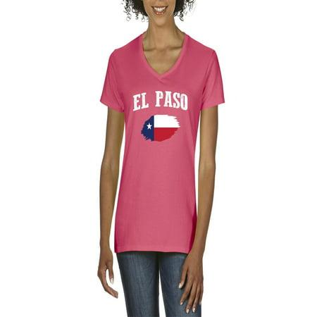 El Paso Texas Women's V-Neck T-Shirt Tee Clothes - El Wire Clothing Ideas