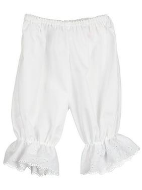 White Pantaloon Pettipants Bloomer Under-pants, 3m - 6x