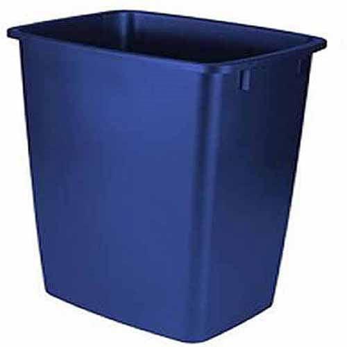 Rubbermaid 9-Gallon Wastebasket, Royal Blue