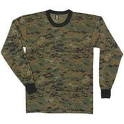 Fox Outdoor 64-343 3XL Mens Long Sleeve T-Shirt, Digital Woodland Camo - 3 Extra Large