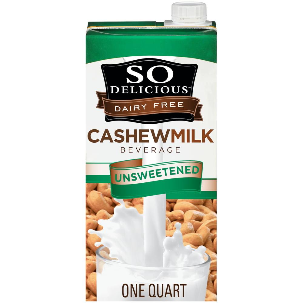 So Delicious Dairy-Free Unsweetened Cashew Milk, 32 Fl. Oz.
