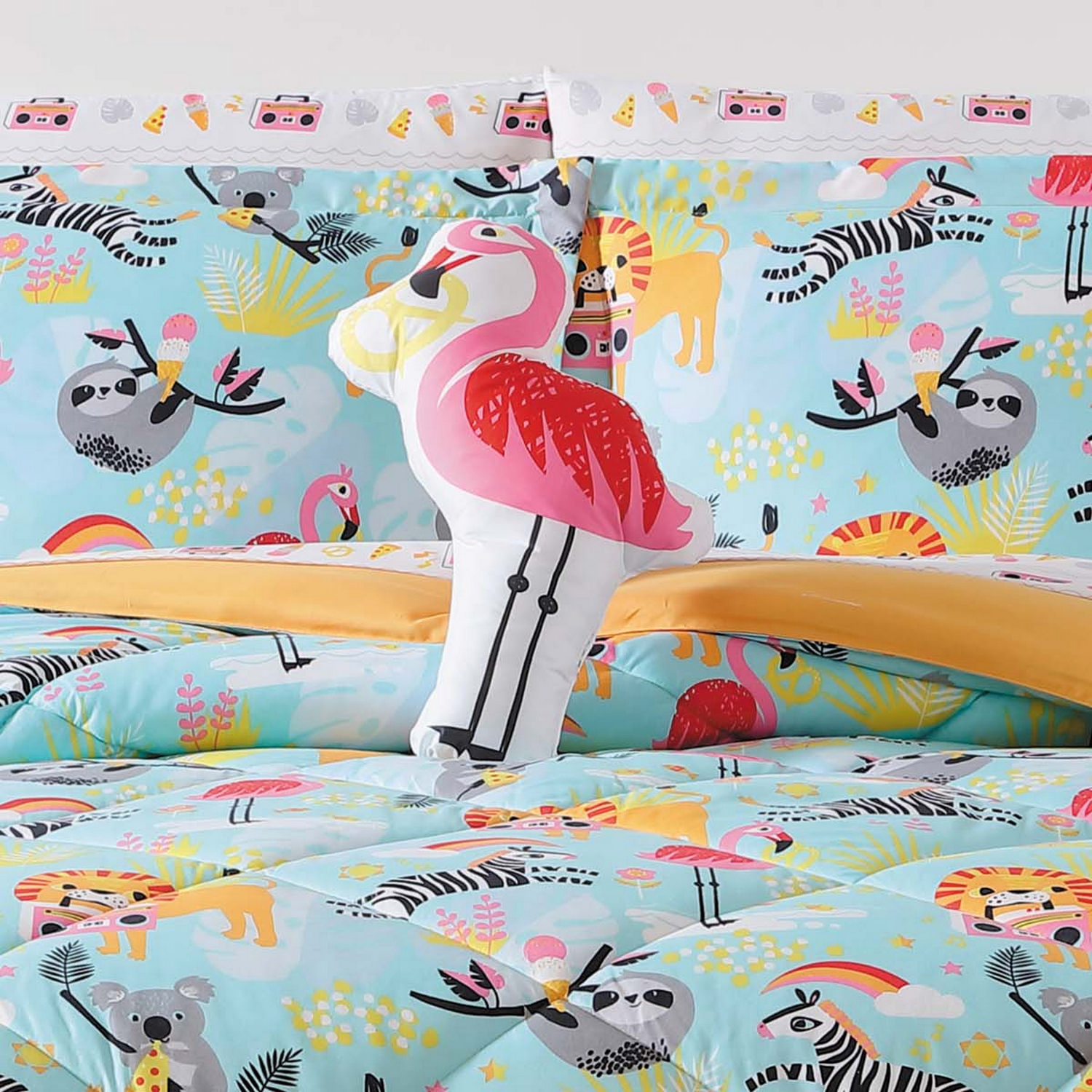 Laura Hart Kids Party Animals Shaped Pillow